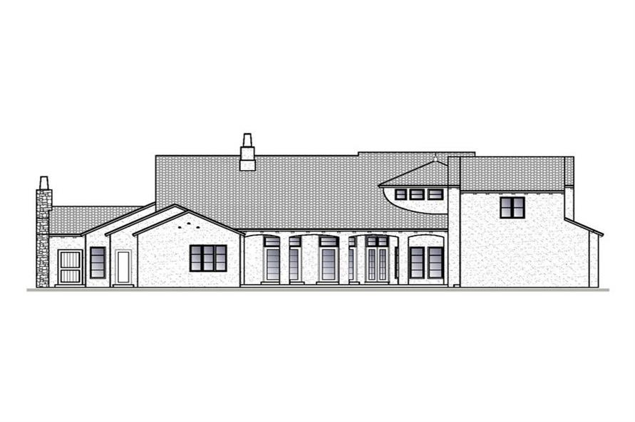 Home Plan Rear Elevation of this 4-Bedroom,4820 Sq Ft Plan -188-1002