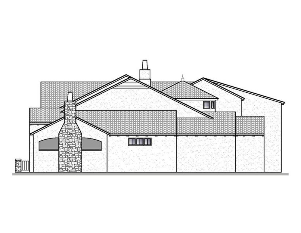 188-1002: Home Plan Right Elevation