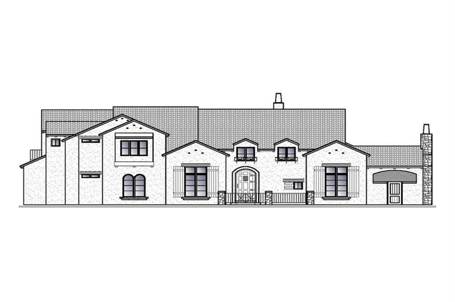 188-1002: Home Plan Front Elevation