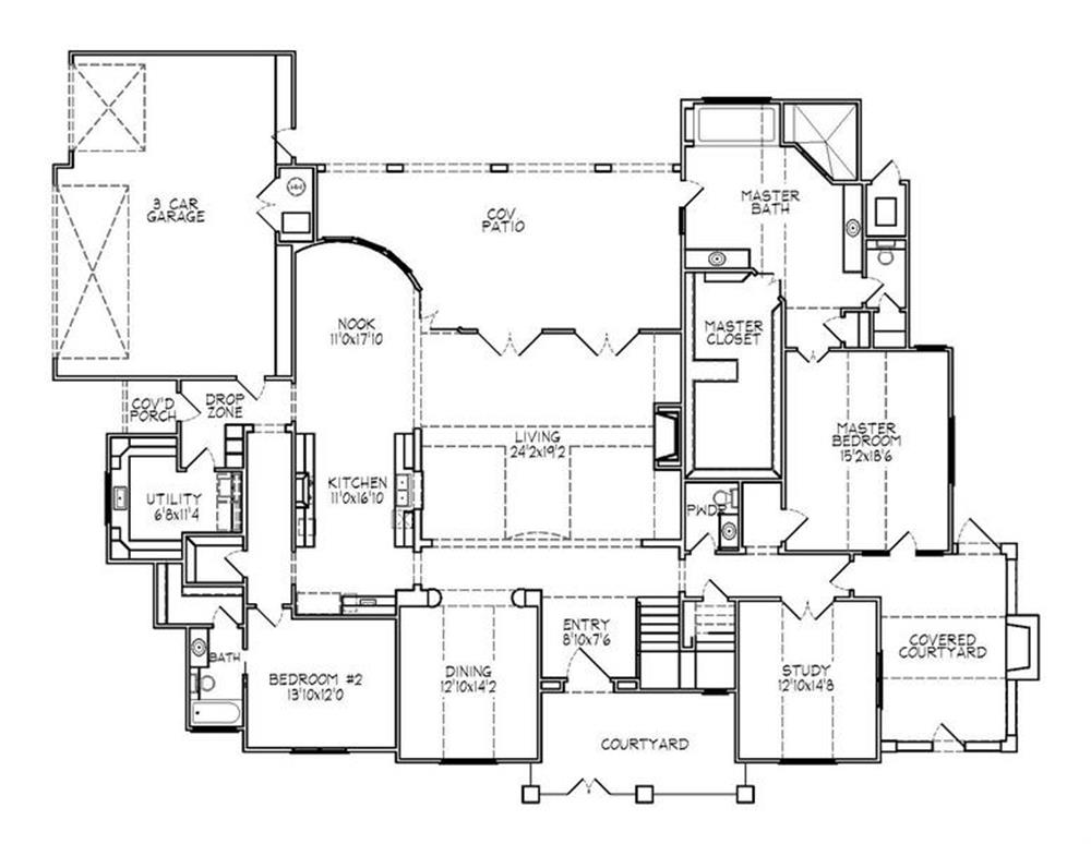 188-1002: Floor Plan Main Level