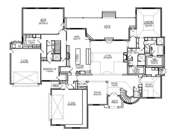 188-1003: Floor Plan Main Level