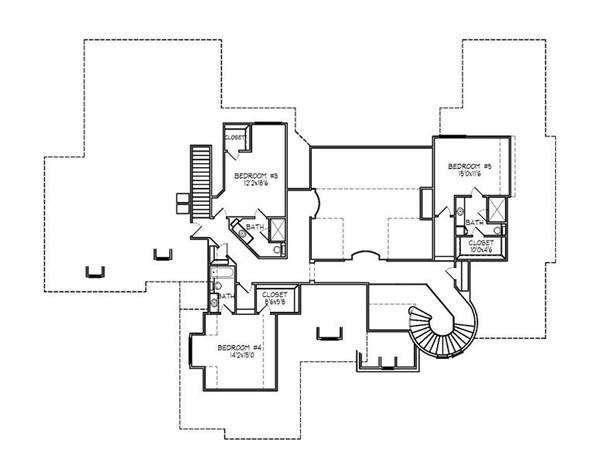 188-1003: Floor Plan Upper Level