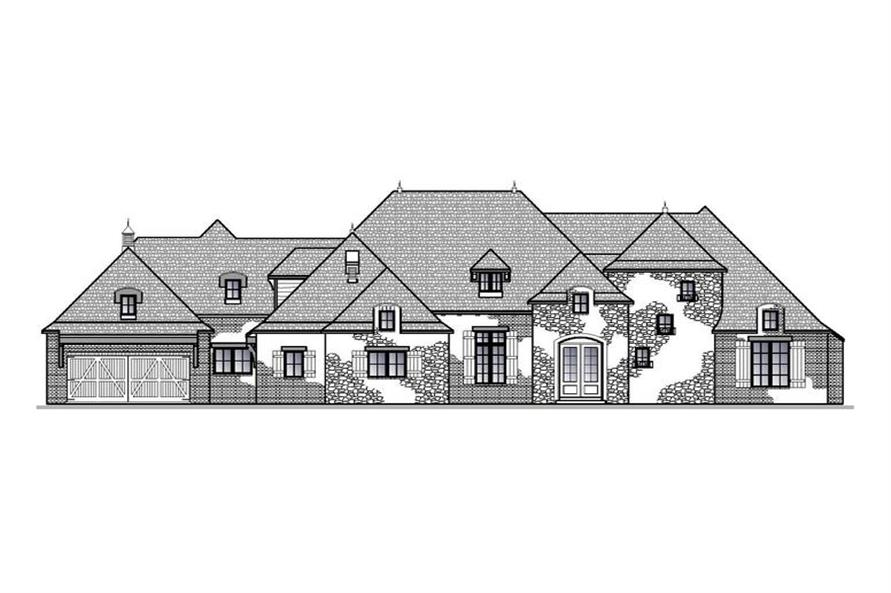 188-1003: Home Plan Front Elevation
