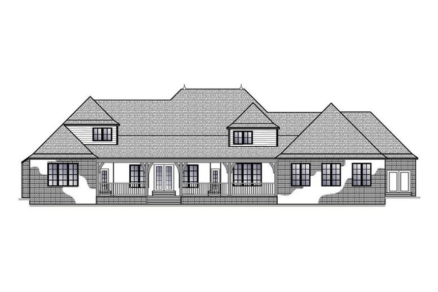 Home Plan Rear Elevation of this 5-Bedroom,5656 Sq Ft Plan -188-1003