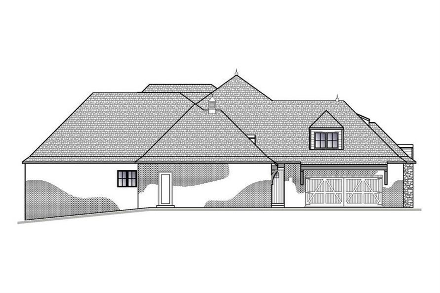188-1003: Home Plan Left Elevation