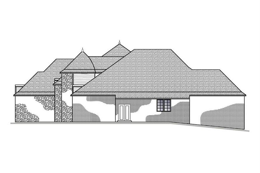 188-1003: Home Plan Right Elevation