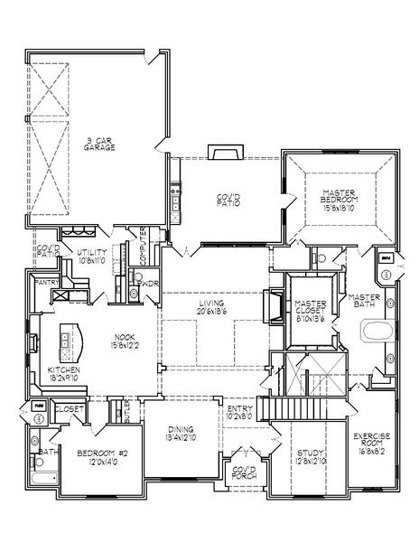 188-1004: Floor Plan Main Level