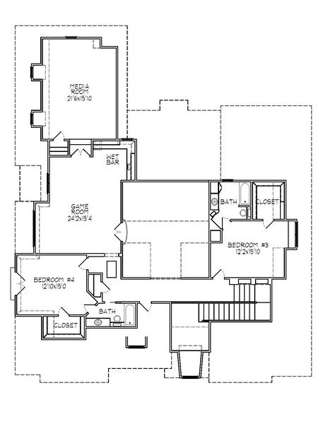 188-1004: Floor Plan Upper Level