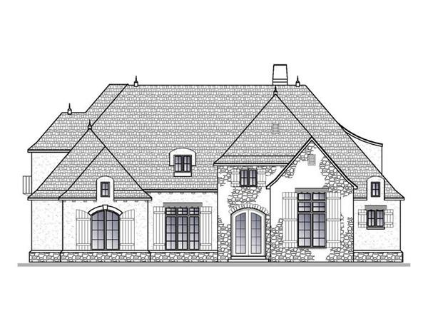 188-1004: Home Plan Front Elevation