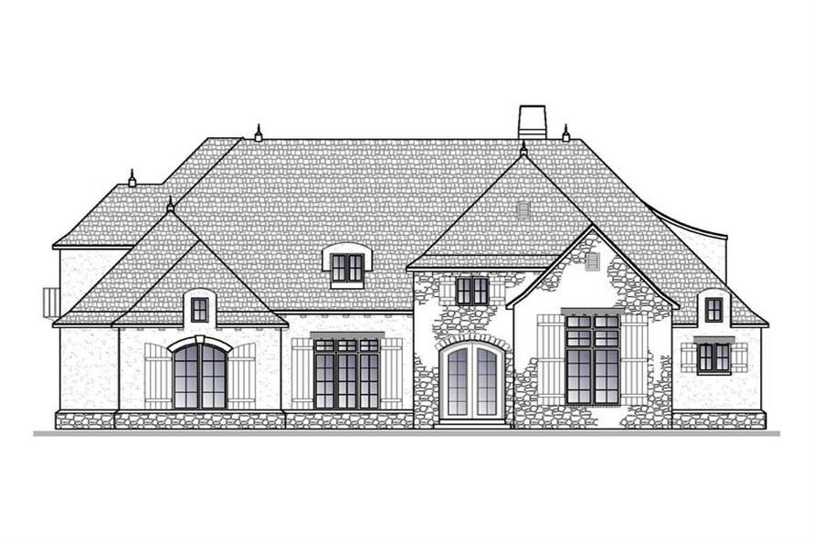 Home Plan Front Elevation of this 4-Bedroom,4661 Sq Ft Plan -188-1004