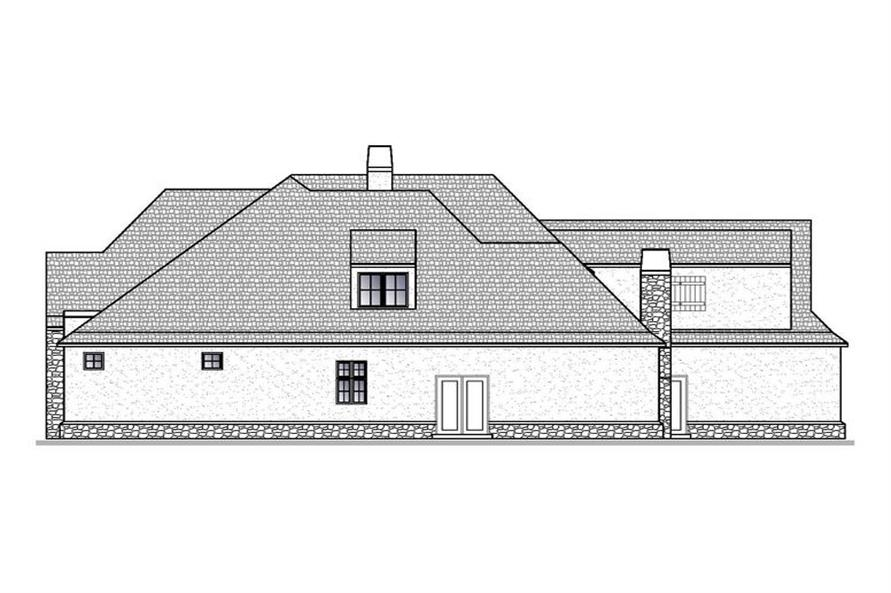 188-1004: Home Plan Right Elevation