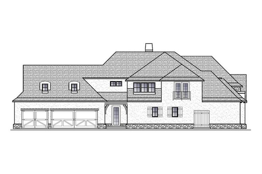 Home Plan Left Elevation of this 4-Bedroom,4661 Sq Ft Plan -188-1004