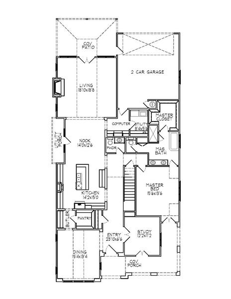 188-1005: Floor Plan Main Level