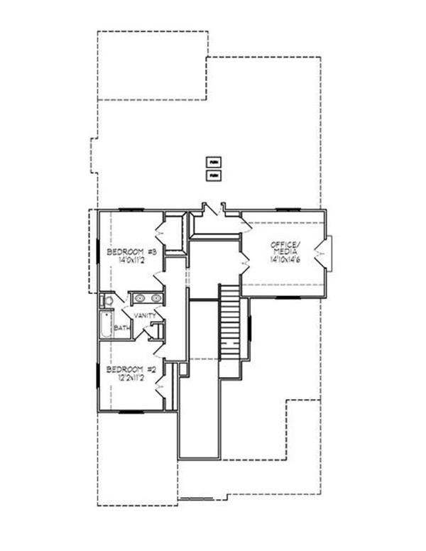 188-1005: Floor Plan Upper Level