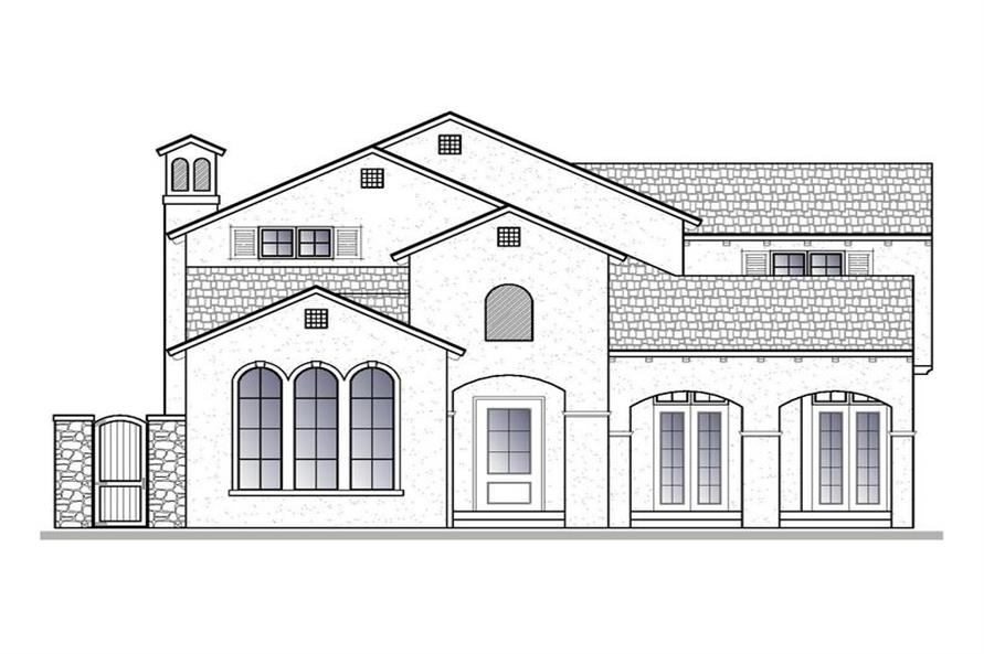 188-1005: Home Plan Front Elevation