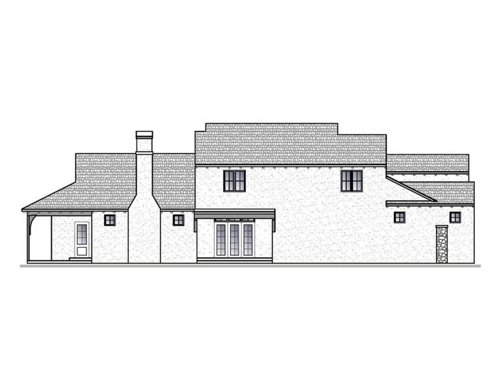 188-1005: Home Plan Left Elevation
