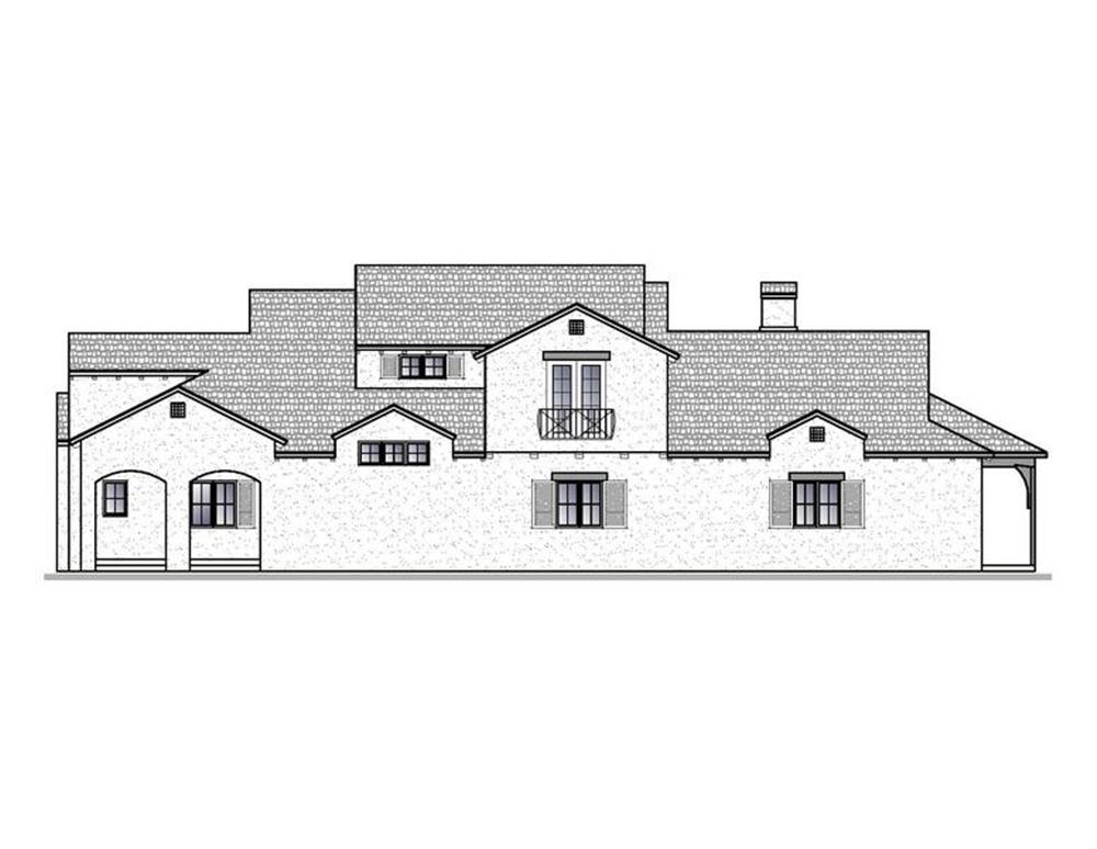 188-1005: Home Plan Right Elevation