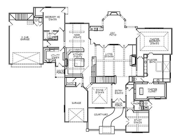 188-1006: Floor Plan Main Level