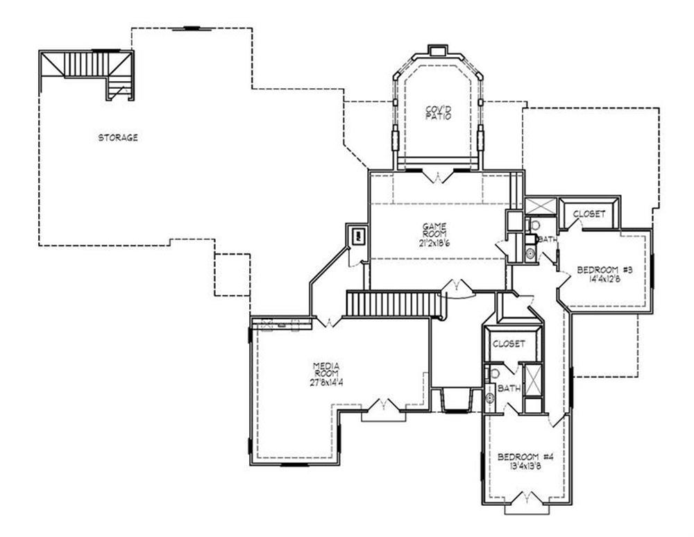 188-1006: Floor Plan Upper Level