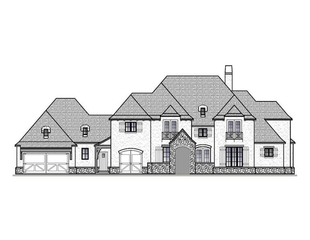 188-1006: Home Plan Front Elevation