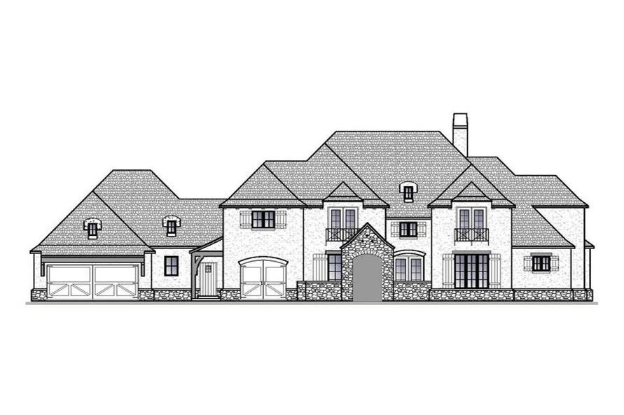 Home Plan Front Elevation of this 4-Bedroom,5012 Sq Ft Plan -188-1006