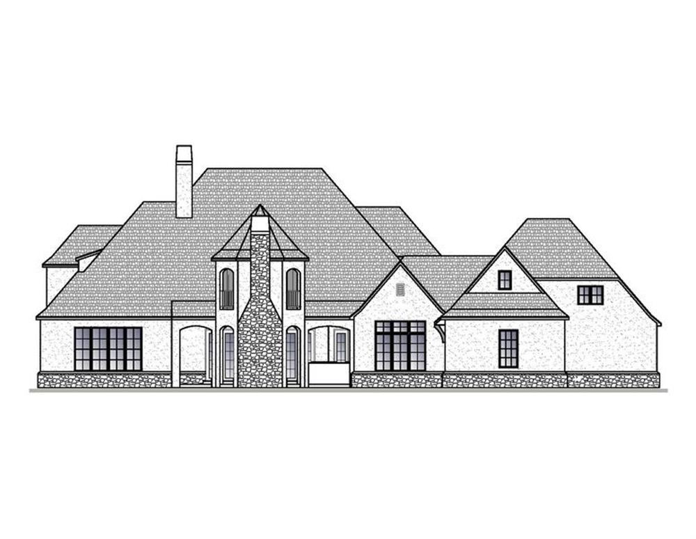 188-1006: Home Plan Rear Elevation