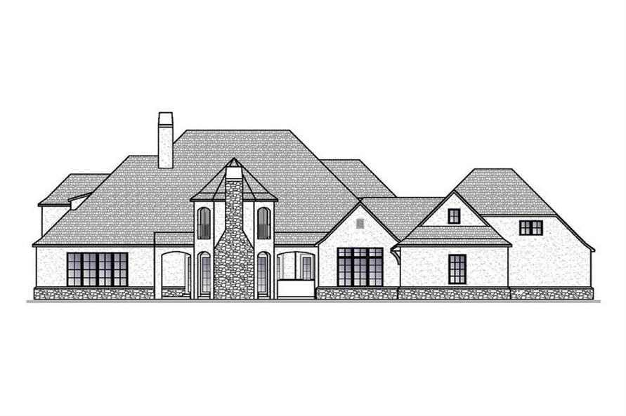 Home Plan Rear Elevation of this 4-Bedroom,5012 Sq Ft Plan -188-1006