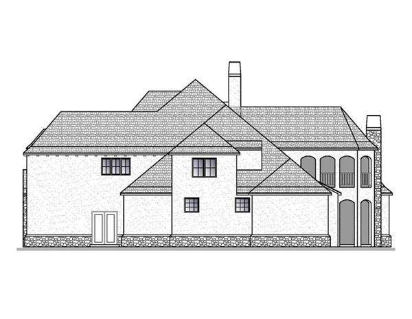 188-1006: Home Plan Right Elevation