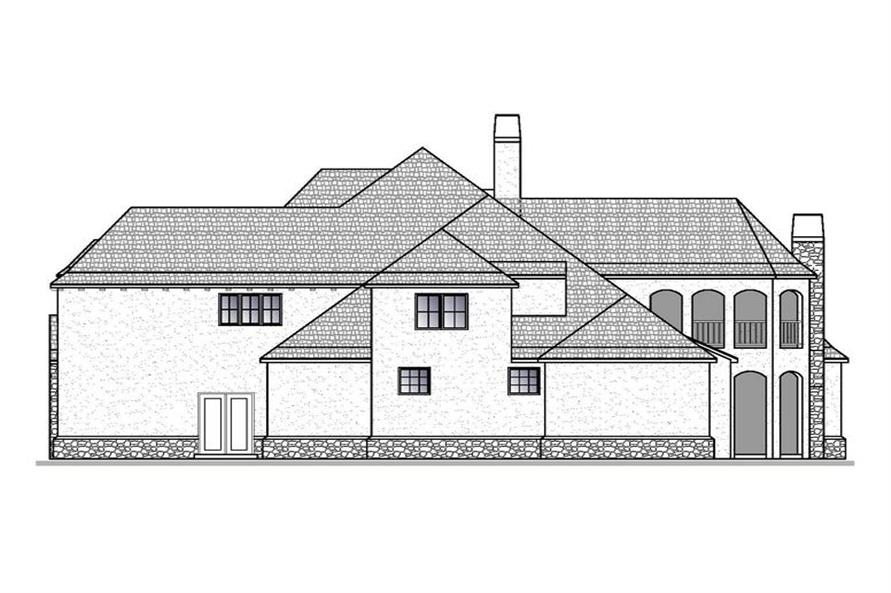 Home Plan Right Elevation of this 4-Bedroom,5012 Sq Ft Plan -188-1006