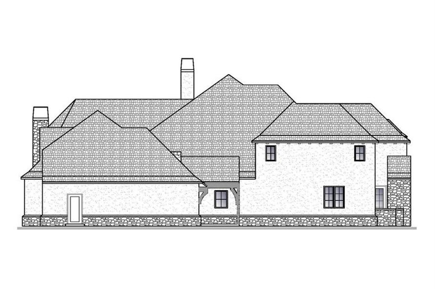Home Plan Left Elevation of this 4-Bedroom,5012 Sq Ft Plan -188-1006