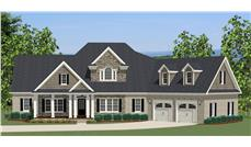 The Plan Collection: Front Elevation of Traditional House # 189-1000