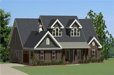 Front elevation of this farmhouse home.