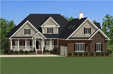 4-Bedroom, 3141 Sq Ft Colonial House - Plan #189-1003 - Front Exterior
