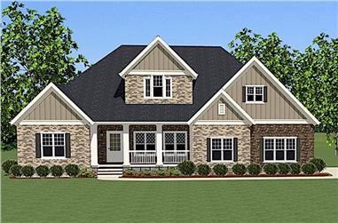 4-Bedroom, 3565 Sq Ft Craftsman Home - Plan #189-1004 - Front Exterior