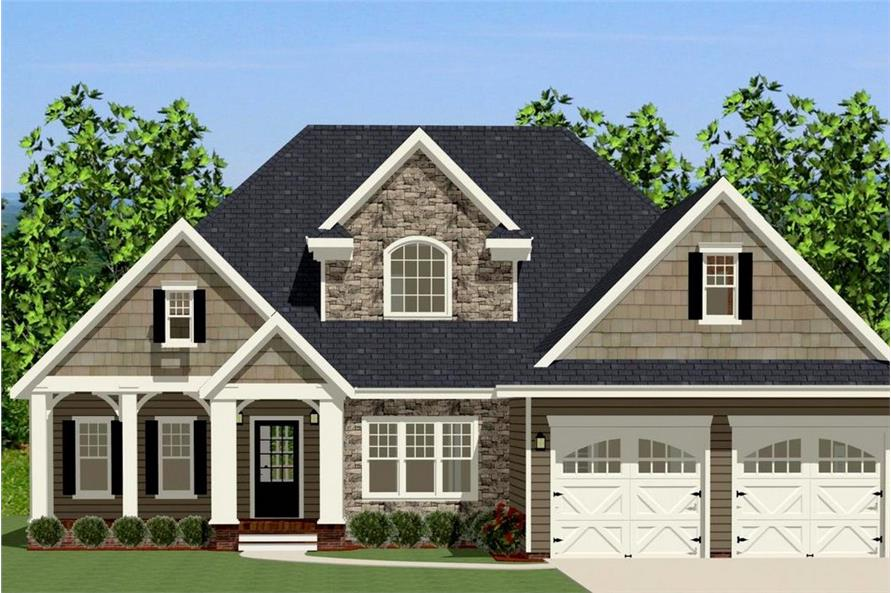 3-Bedroom, 2363 Sq Ft Country House Plan - 189-1005 - Front Exterior