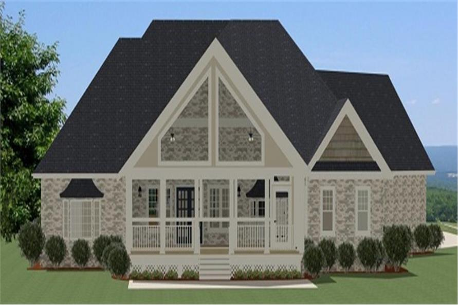189-1008: Home Plan Rear Elevation