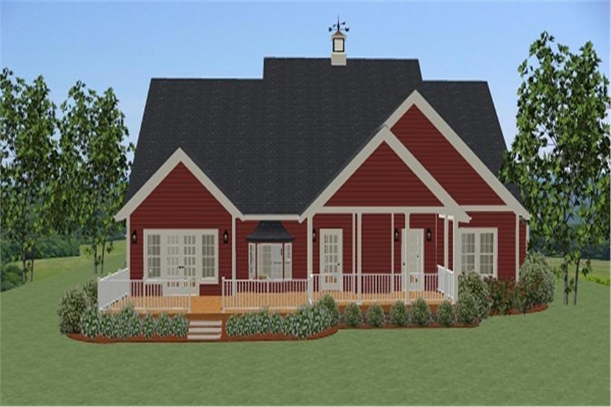 189-1010: Home Plan Rear Elevation