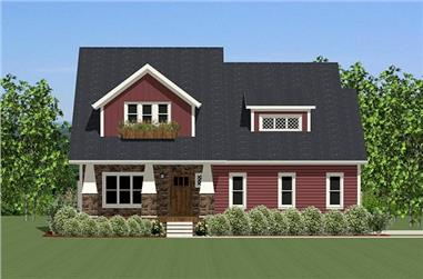 3-Bedroom, 2714 Sq Ft Craftsman Home Plan - 189-1011 - Main Exterior