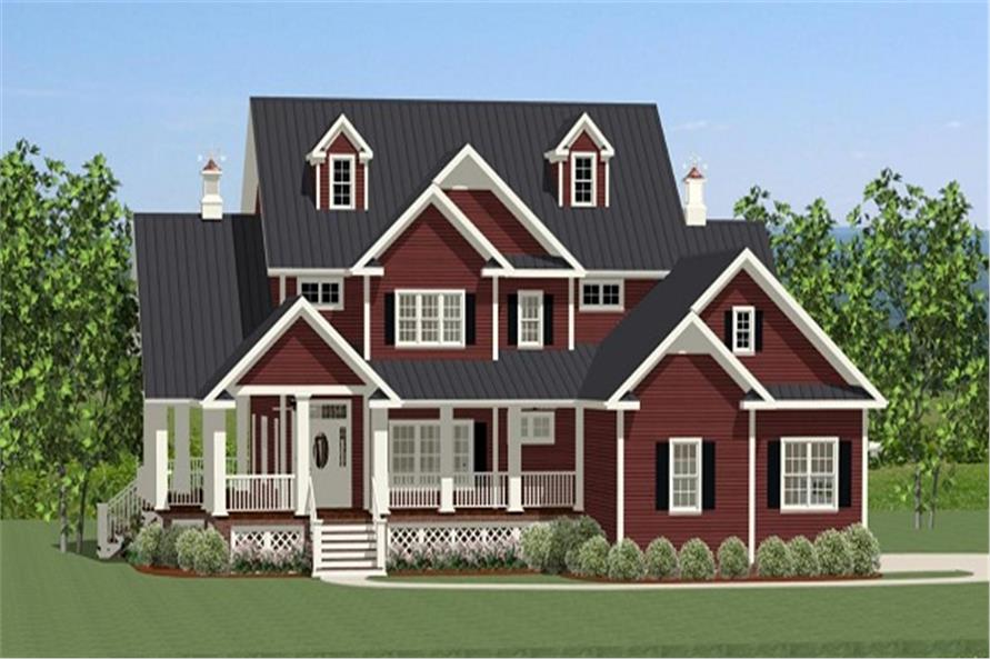 3-Bedroom, 2971 Sq Ft Farmhouse Home Plan - 189-1012 - Main Exterior
