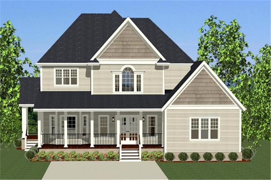 189-1015: Home Plan Rear Elevation