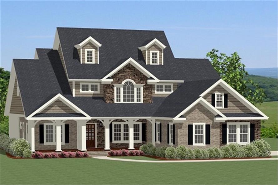 4-Bedroom, 2880 Sq Ft Farmhouse Home Plan - 189-1016 - Main Exterior