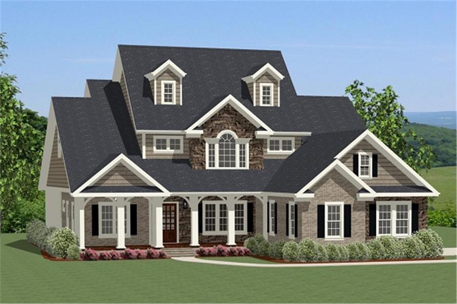 house plan #189-1016: 4 bdrm, 2,880 sq ft farmhouse home