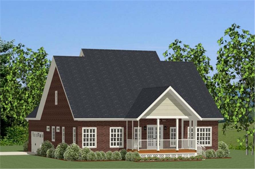 189-1019: Home Plan Rear Elevation