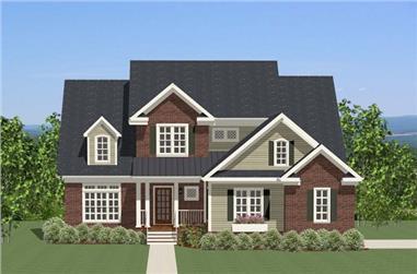 3-Bedroom, 2889 Sq Ft Craftsman House Plan - 189-1019 - Front Exterior