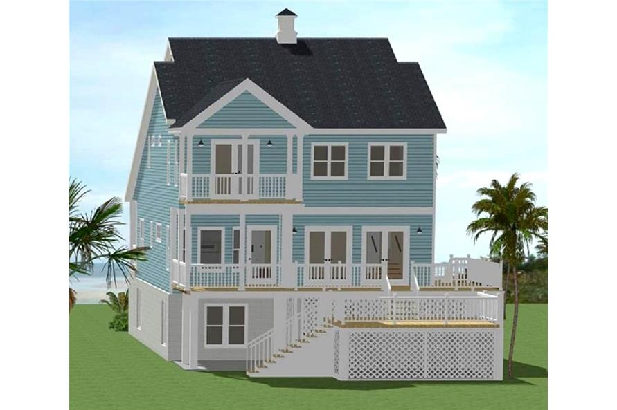 Rear View of this 5-Bedroom,2180 Sq Ft Plan -189-1064