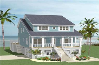 5-Bedroom, 2180 Sq Ft Southern House - Plan #189-1064 - Front Exterior