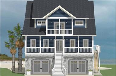 4-Bedroom, 2515 Sq Ft Cottage Home Plan - 189-1067 - Main Exterior
