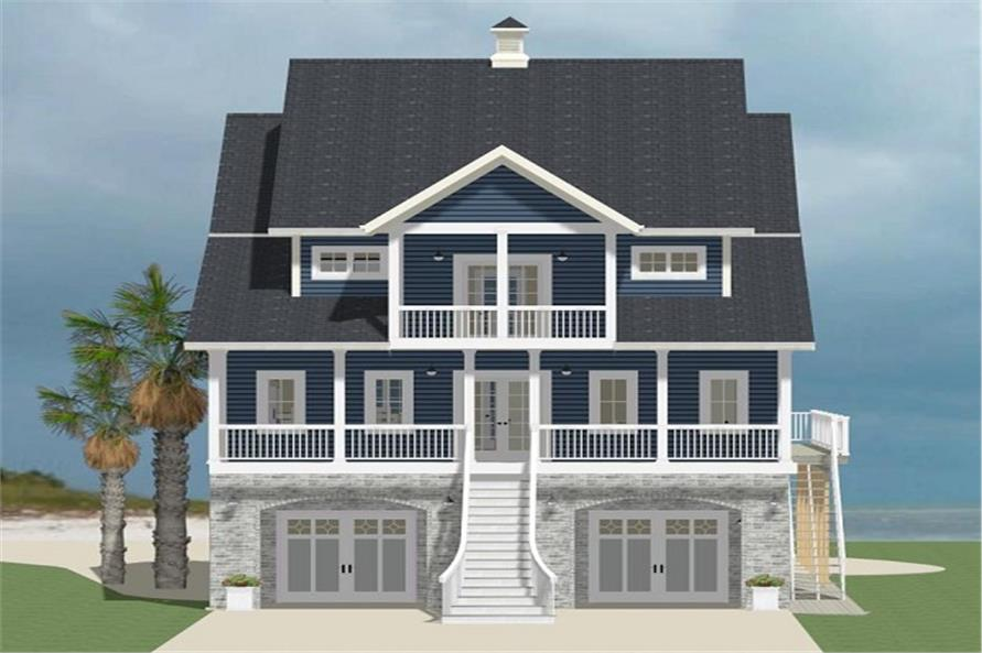 Front elevation of Cottage home (ThePlanCollection: House Plan #189-1067)