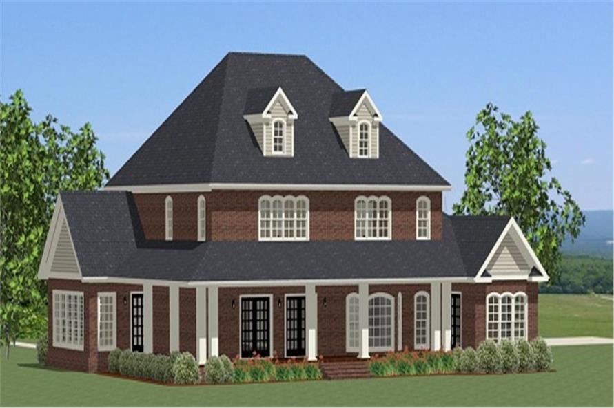 189-1069: Home Plan Right Elevation