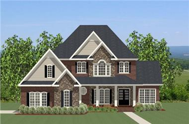 Front elevation of Traditional home (ThePlanCollection: House Plan #189-1069)